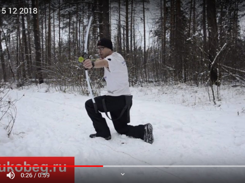 Тренировка в зимнем лесу